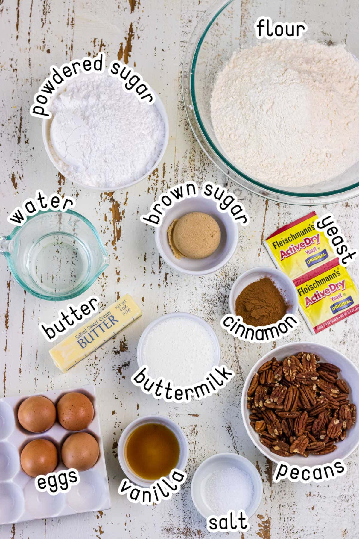 Labeled ingredients for this recipe.