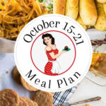 Collage of images for meal plan 43 for pinning to Pinterest.
