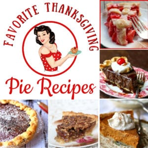 Collage of pie images with title text overlay.