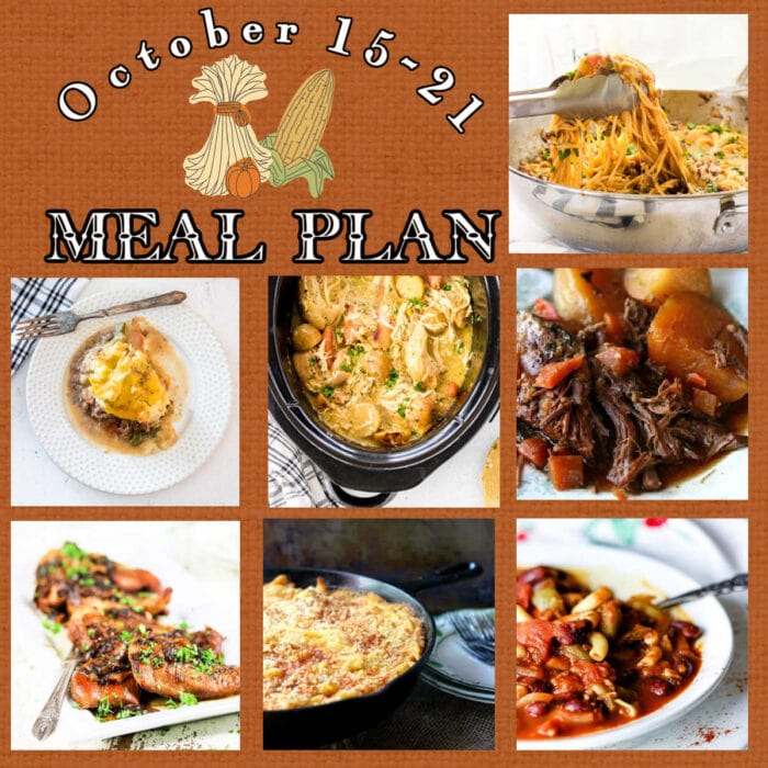 Cover image for meal plan 43 is a collage of main dish images with text overlay.
